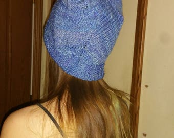 Blue handspun hat