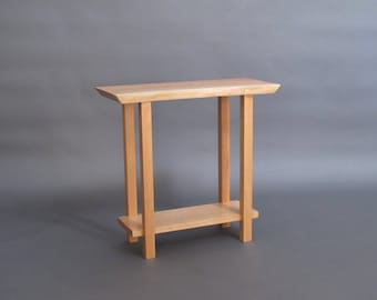 Delightful Narrow Live Edge Side Table: Small Accent Table, Narrow Nightstand, Wood  End Table