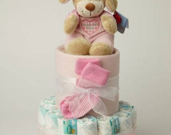 Two Tier Nappycake Baby Gift