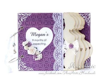 Expecting Mom Gift, Pregnancy Journal, Personalized Mom to Be Gift, Pregnancy Diary,Pregnancy Reveal, Pregnancy Scrapbook Album