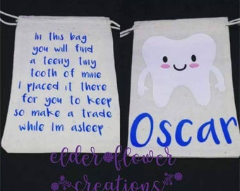 Personalised children's tooth fairy pouch