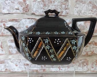Black Teapot | Etsy