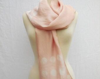 Blush silk scarf
