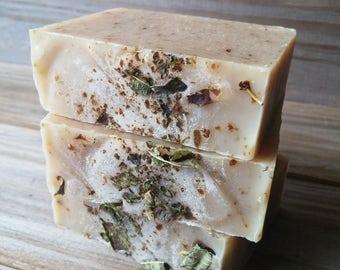Lemon Verbena Coconut Milk Soap, Handcrafted All Natural Cold Process Soap. Lemon Soap, Herbal Soap, Essential Oil Soap, Artisan Soap