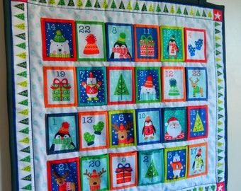 Fabric advent calendar, advent calendar with pockets, reusable advent calendar, kids advent calendar