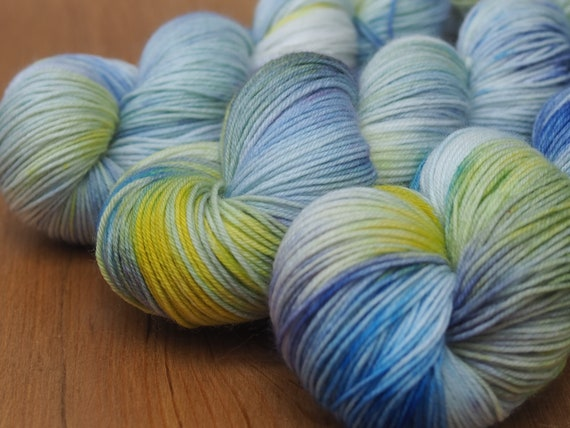 Delphinium Perfect Sock Merino Nylon Fingering Weight Yarn