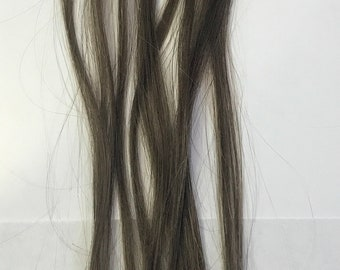 Ash Brown Micro Loop Remy Micro Bead and Loop Human Hair Cold Fusion Tip Hair Extensions 10 Strands 0.5 grams per Strand 19 inch Highlights