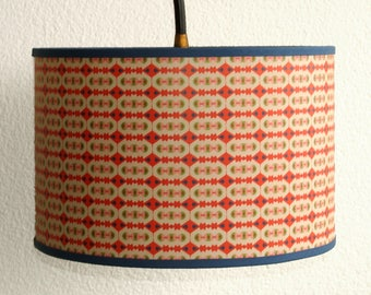 LAMPSHADE PATTERN VINTAGE RED AND ECRU