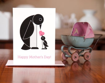 Arch of the Penguins Mother's Day Card - 100% Recycled Paper