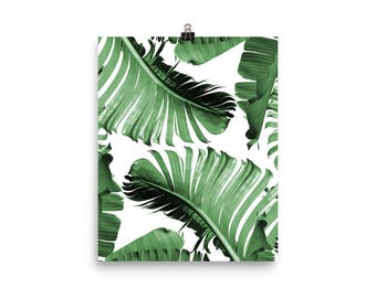 Tropical Print, Tropical Leaf Print, Tropical Art, Tropical Photo, Tropical Leaf Wall Art, Tropical Decor, Tropical Poster, Palm Banana Leaf