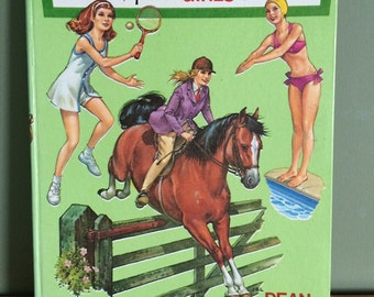 SALE 50% off Vintage Hardback 1974 Annual; A new ideal book for girls