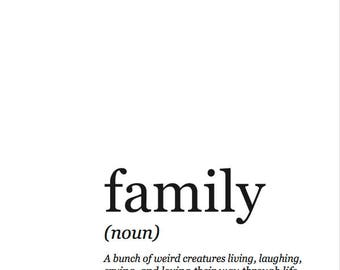 8x10 Family Definition PDF Framable Print