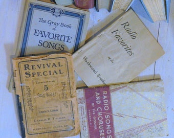 4 Hymnal Books, Vintage Hymnal, Antique Hymnal, Old Hymnal, Vintage Hymn Book
