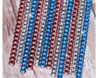 4th of July Shimmer Sticks - NEW Trend Alert - Glam for Lollipops, Cake Pops and All Things Party