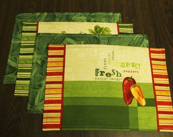 Vegetable Placemats Set of 4