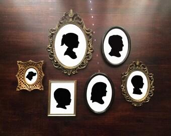 Custom Paper Cut Silhouette •Child, Couple & Family
