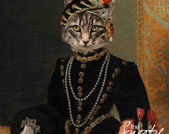 CAT PORTRAIT - Custom Cat Portrait, Custom Dog Portrait