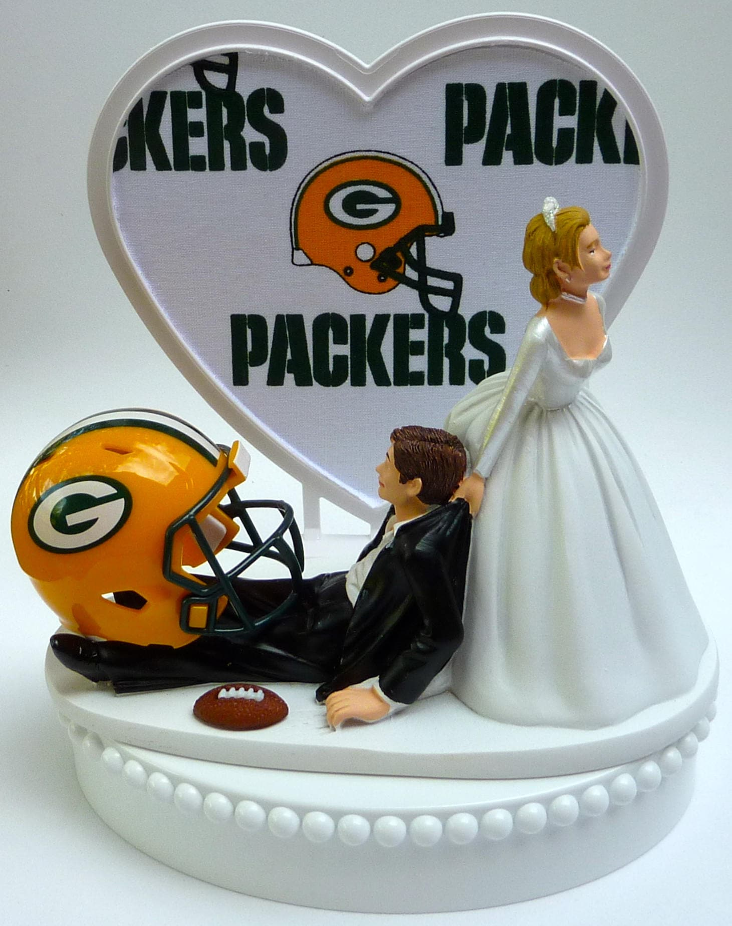green bay wedding cake topper wedding cake topper green bay packers gb football themed w 14967