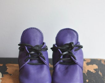 Lace up boots- shown in purple