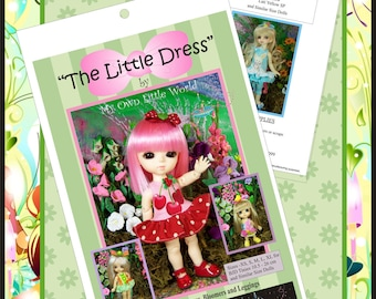 PDF Version -The Little Dress - Pattern for BJD Tinies 10.5 - 26cm.