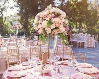 Blush Pink Satin Tablecloth Light Pink Tablecloth Baby Pink