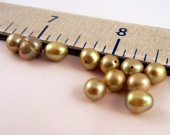 Freshwater Pearls lt olive 16 inches