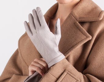 Women Leather Gloves Italy Leather Gloves Dress Gloves Winter Gloves Italian Leather Gloves Fashionable Gloves Gift for Her // Ameek