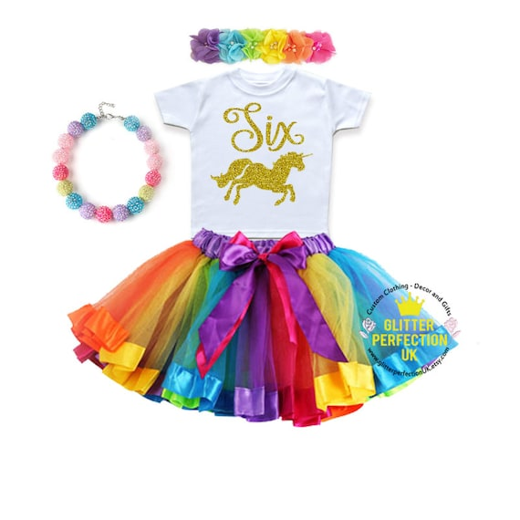 Sixth Birthday Outfit Girl Unicorn Birthday Outfit 6th