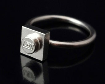 Lego Ring in Sterling Silver