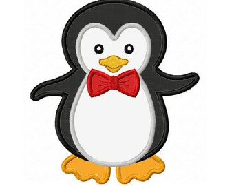 Instant Download Boy Penguin  Applique Machine Embroidery Design NO:1321