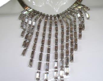 Vintage YSL Yves Saint Laurent Diamante Bib Necklace