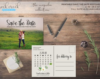 The Magnolia Collection Full Photo Calendar Printable Save The Date Card