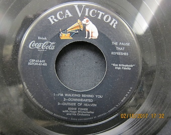 Eddie Fisher Souvenir Record From Coke Time - RCA Victor - 45RPM