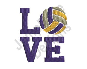 Volleyball Love - Machine Embroidery Design