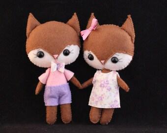 Felt animal Pocket foxes Gingermelon