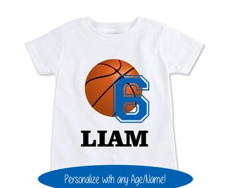 Basketball Birthday Gift, Sports Birthday Party Decorations, Basketball Gift, Basketball Shirt, Birthday Gift for Him Personalized (EX 304)