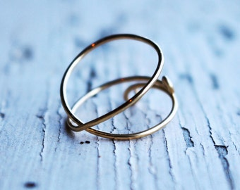 Criss Cross Wrap Gold Wire Ring