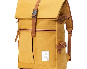 10% off - Tidy Urban Cotton Backpack (Mustard) 75.9->68usd