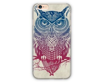 OWL Phone Cases / OWL Blue iPhone Phone Cases For iPhone 6 / iPhone 7/8 Plus / iPhone X Case / Samsung Galaxy S7 Case / Samsung Galaxy S8 +
