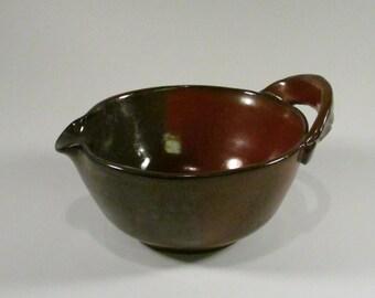 Ceramic Mixing Bowl -Batter Bowl -Russet Red -Wheel Thrown Bowl - Handmade Mixing Bowl -Stoneware Bowl -Ceramic Batter Bowl - Pottery  Bowl