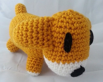 "SNES Harvest Moon Inspired Puppy/Dog ""Koro"" Amigurumi"