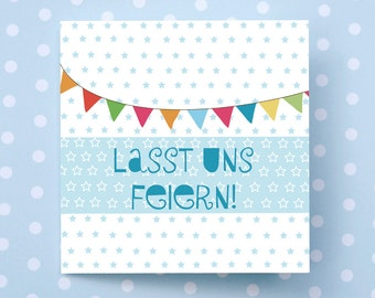 Let's celebrate!. Invitation card. Invitation. Birthday. Birth. Wedding. Baptism. Party. Summer. Spring. Anniversary