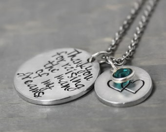 Mother Necklace, Man of My Dreams Necklace, Mother In Law Necklace, Mother In Law Gift, Handstamped Necklace, Personalized Jewelry