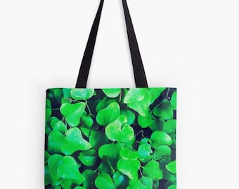 Green Ivy Colorful Tote Bag - Several sizes available!