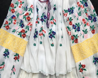 Rare 1930's Vintage Hand embroidered Romanian set (Blouse and skirt)