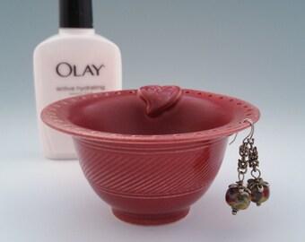 Bridesmaid's Gift   Ceramic Jewelry Bowl Earring Organizer Bracelet Catcher Earring Tree   Handmade Rose Heart Wedding Day Unique Gift 4 Her