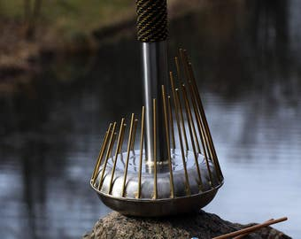 Whalophone - Turtle Drums classic waterphone - 24 brass rods- bag & mallets free! Different handle colours! Last minute 5% Discount!