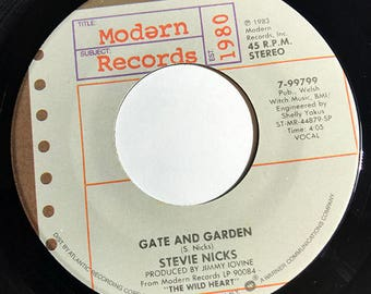 "Stevie Nicks Gate And Garden / Nightbird vinyl record 7"" NM 1983"
