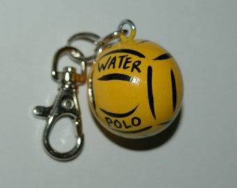 Personalized WATERPOLO Charm for Bag -  Backpack -  Key Ring - Zipper Pull