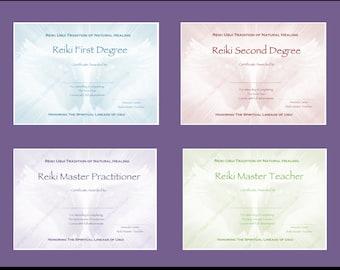 Download complete set reiki certificate templates x4 reiki certificate templates x4 angel wings download complete set landscape level 1 yadclub Gallery